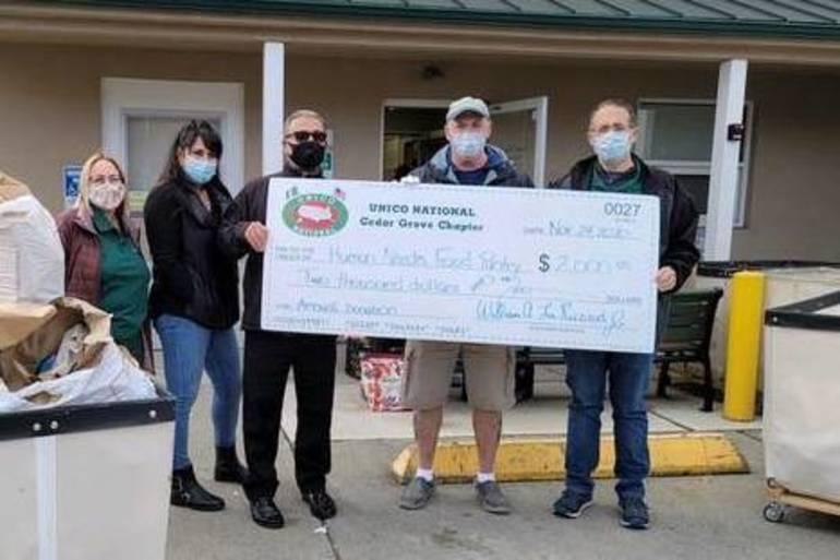 Cedar Grove UNICO Chapter Donates to Human Needs Food Pantry