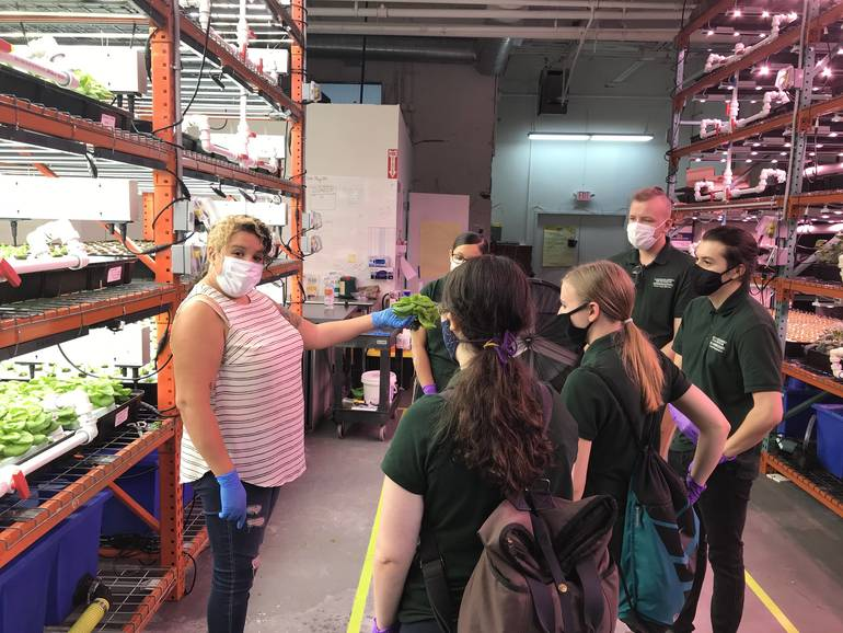 Northern New Jersey Community Foundation's Green Team tours Greens Do Good.