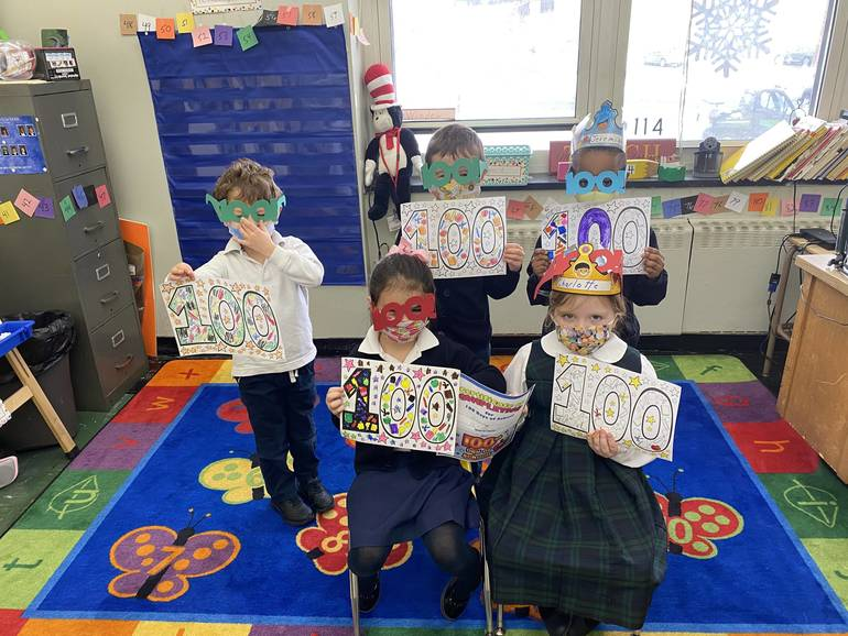 100 and 1,000 Days of School at Holy Trinity