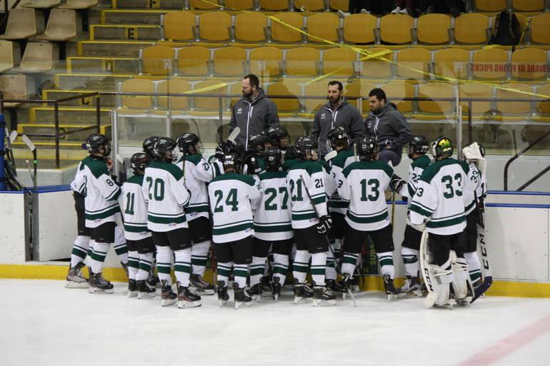 Montville ice hockey battles Kinnelon on senior night