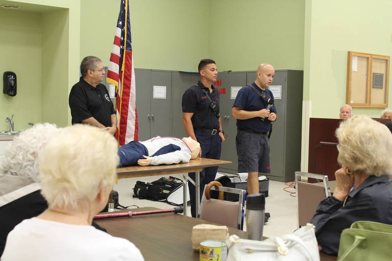 Union Firefighters Educate Seniors on CPR and Other Life Saving Techniques
