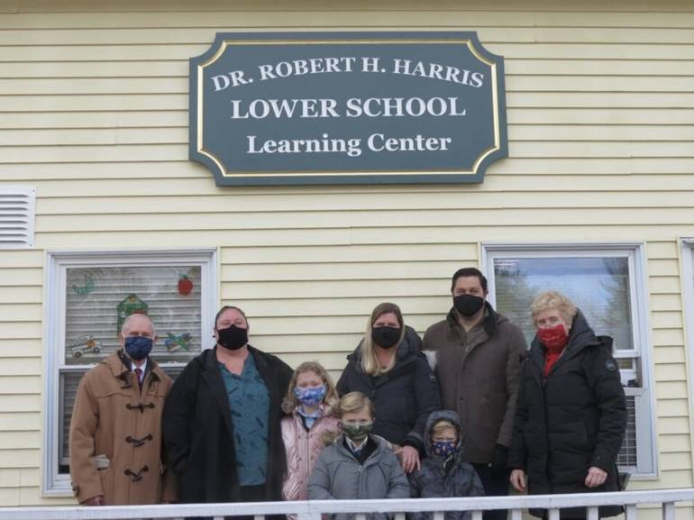 Oak Hill Academy Dedicates Learning Center in Honor of Benefactor Dr. Robert H. Harris.