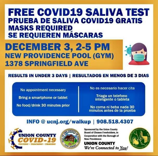 Mayor's COVID-19 Update; Mobile Testing in New Providence Thursday, Dec. 3