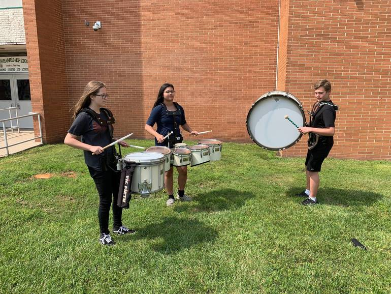 South Plainfield Marching Band Practice has Begun - Registration Still Open to Join Color Guard and Marching Band