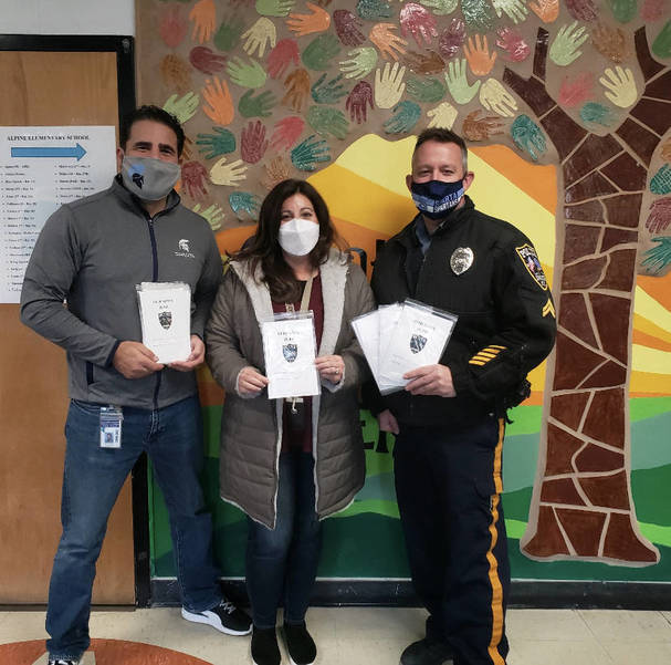 Child Safety Kits Donated to Each Kindergarten Student at Alpine School by Sparta Police