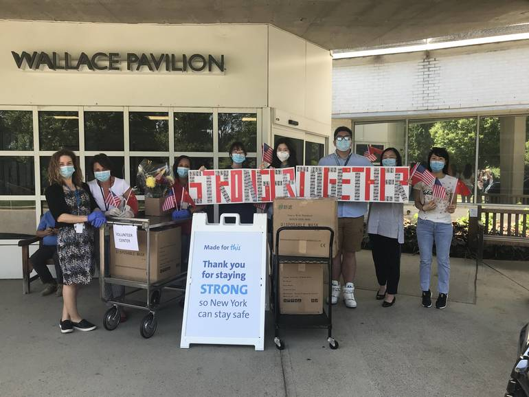 Harvey International Students Give a Gift of PPE