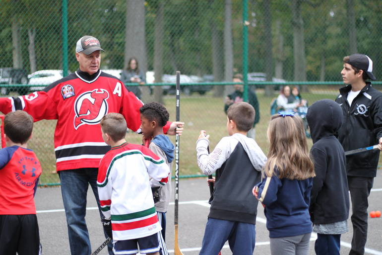 Scotch Plains Recreation welcomed NJ Devils great Bruce Driver, a member of the 1995 Stanley Cup Championship team, who ran a street hockey clinic on Friday, Oct. 11, at Brookside Park.