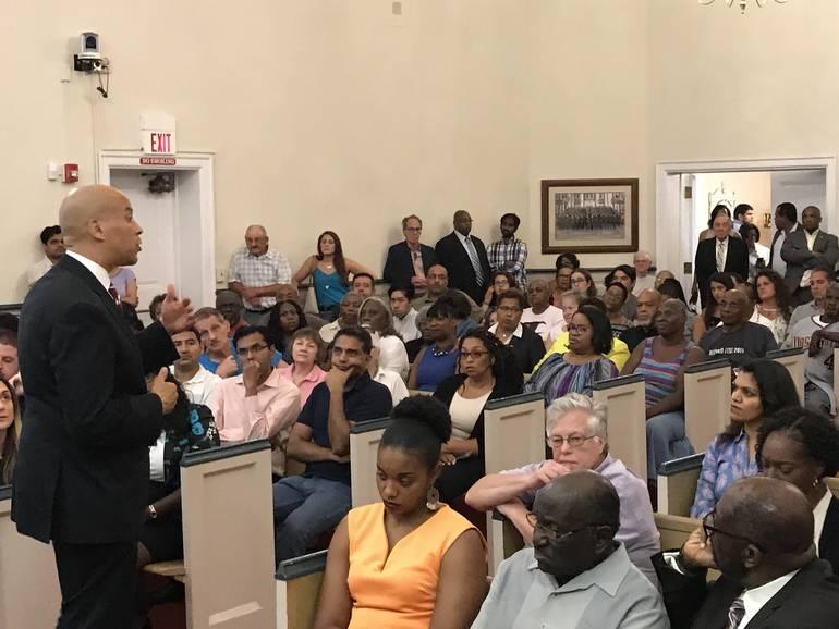 U.S. Senator Cory Booker and State Senator Joe Cryan Pack Room at Town Hall Meeting