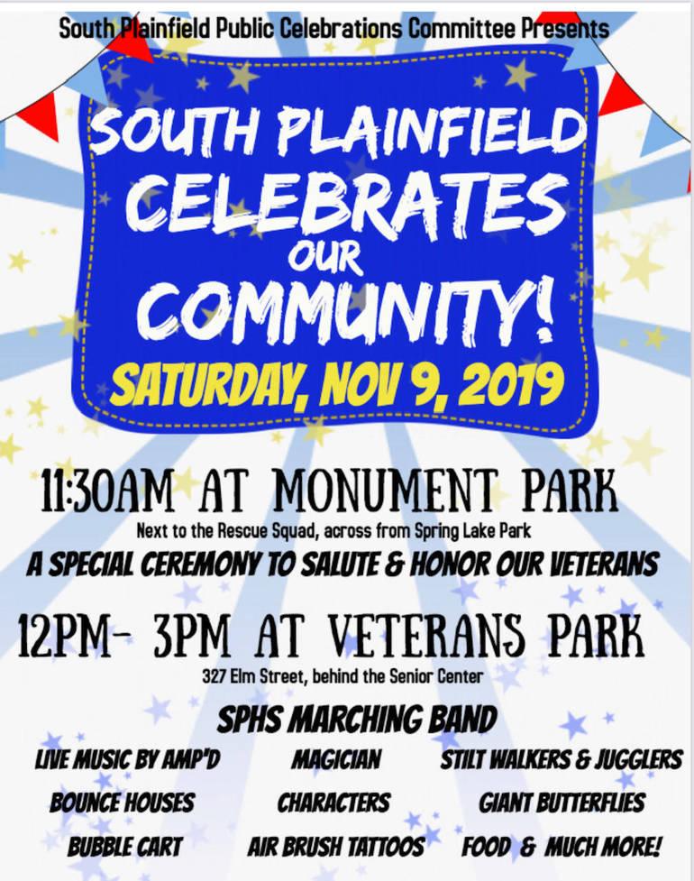 South Plainfield Celebrates Community On Sat. Nov. 9th