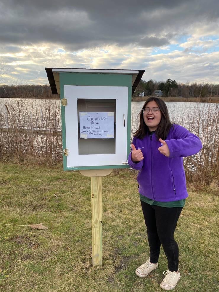 Sparta Eagle Scout Brianna Conlon Builds Little Free Libraries