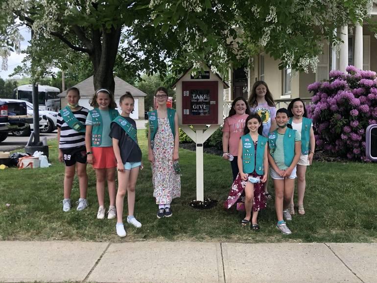 Flemington Girl Scout Troop Creates Tiny Food Pantry for Bronze Award