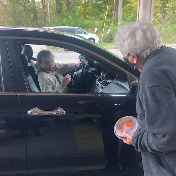 Drive-Thru Meatball Monday at the Senior Center Draws 80 Seniors
