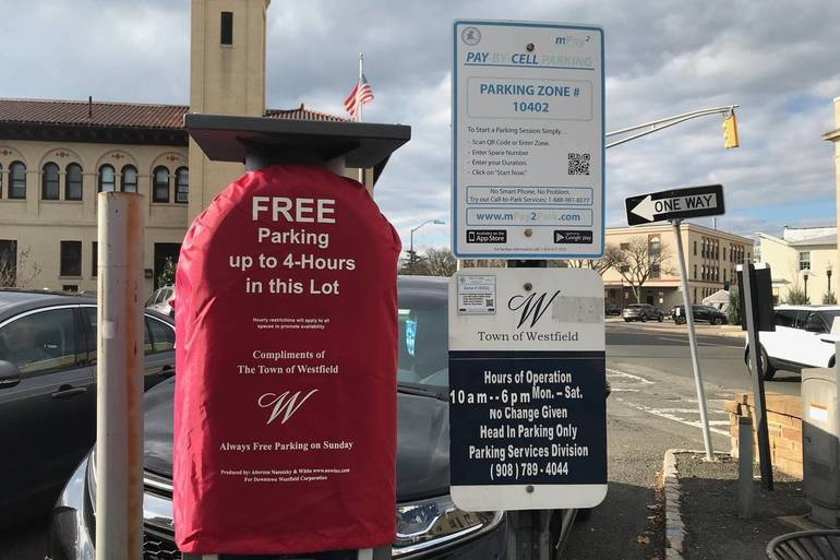 Free Holiday Parking Starts Early in Downtown Westfield. No Spot Hogging Allowed