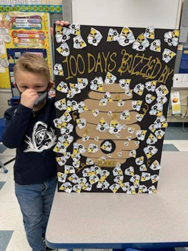 Hehnly Kindergarten Students Celebrate 100 Days of School