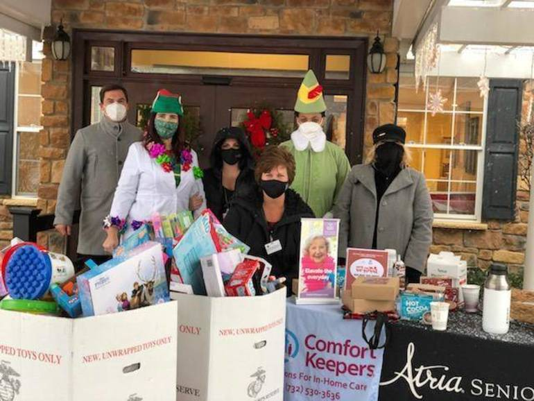 Atria Tinton Falls and Comfort Keepers In Home Care Holiday Drive Collects Over 200 Toys for Tots!