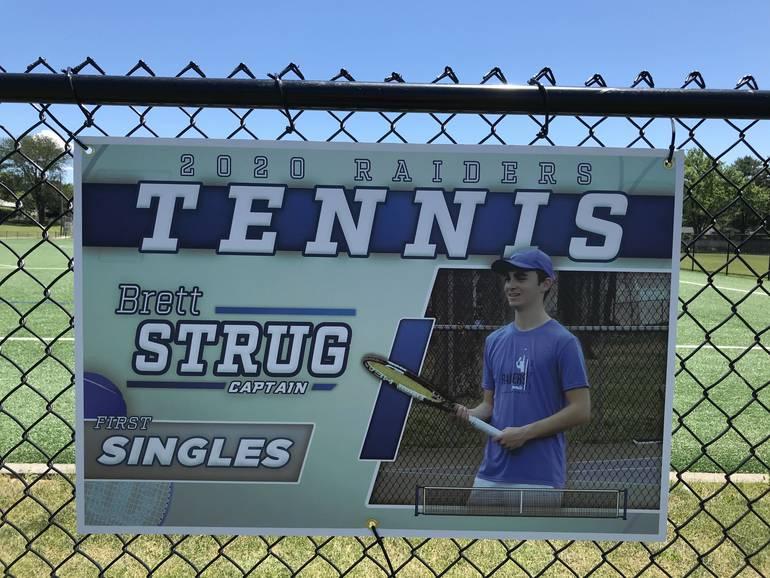 Scotch Plains-Fanwood tennis player Brett Strug