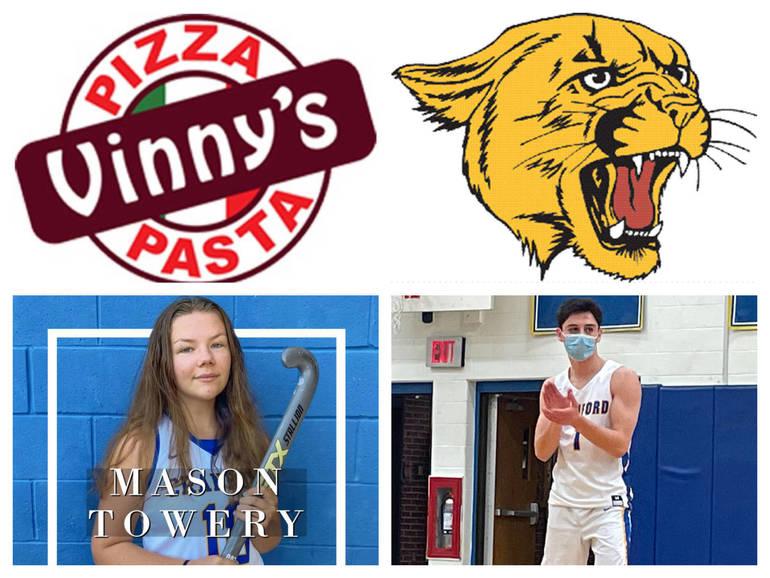 Vinny's Pizza & Pasta Cranford Senior Athletes of the Week: Mason Towery & Joe Carrea