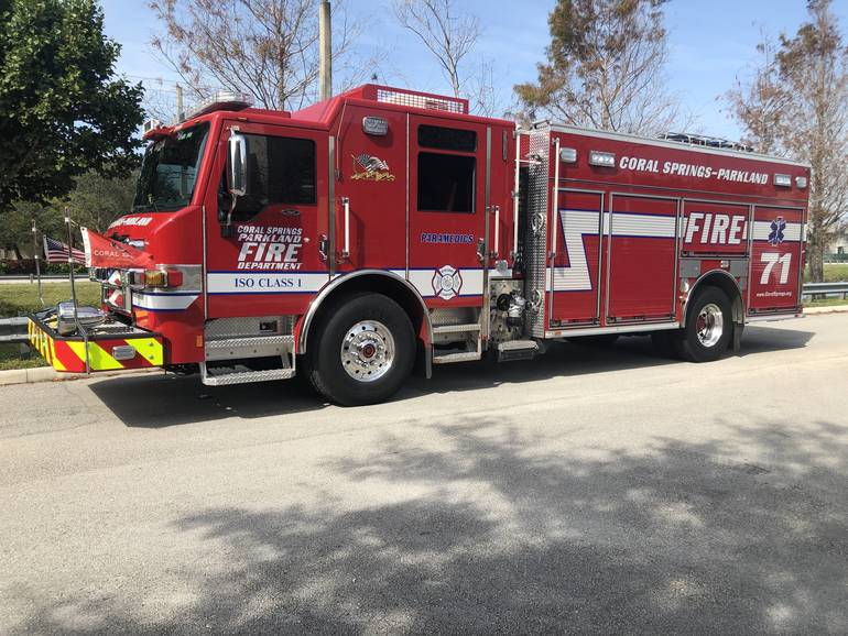 Part of Major Coral Springs Road Closed Friday Morning Due To House Fire