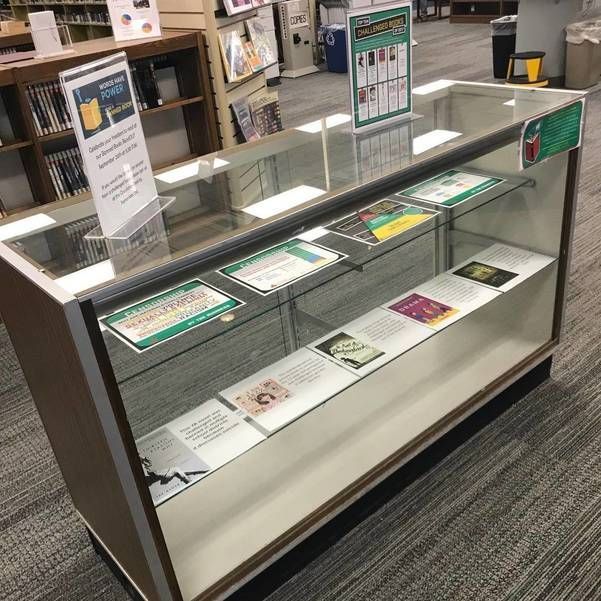 Banned Books Display, Olean Public Library
