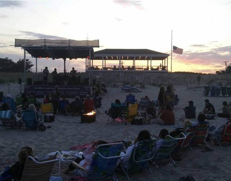 Fire Pit Fridays on 68th Street Beach are Back