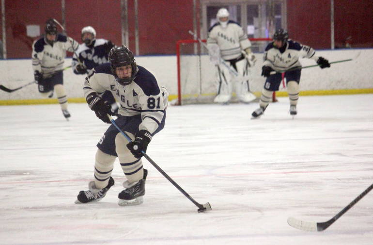 VIDEO: Ice Hockey -  Block Strikes Twice in Middletown South Stalemate with Manasquan