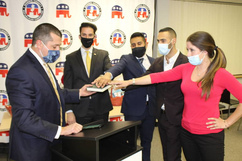 Two From Roxbury Sworn-in to County Young Republicans Executive Board