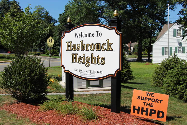 Borough of Hasbrouck Heights sign