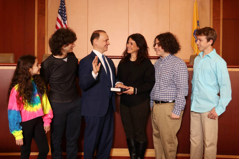 Livingston Council Members Anthony and Vieira Sworn In Upon Re-election