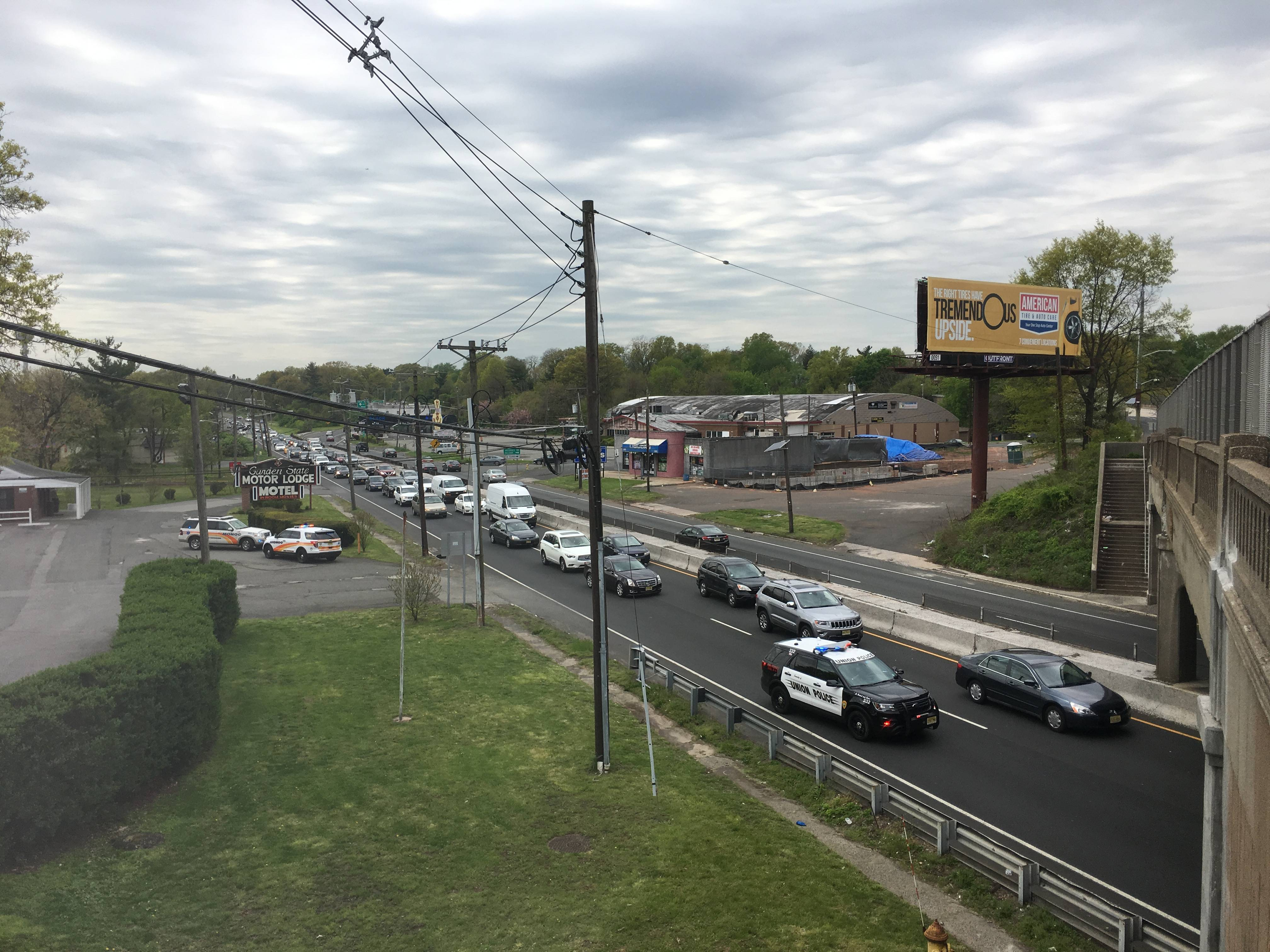 Route 22 East Accident Involving a Union Police Car Snarls