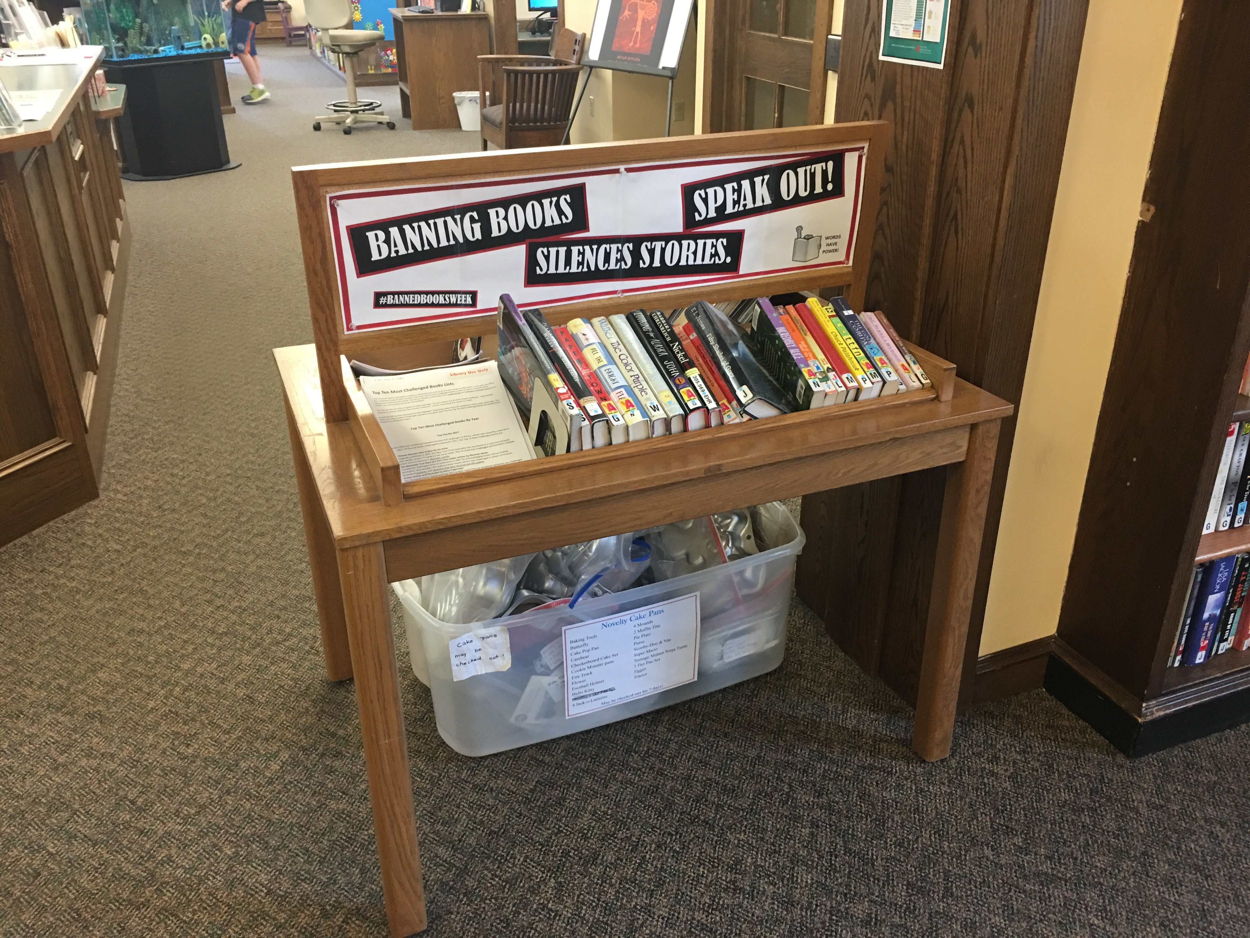 Banned Books Display, Cuba Circulating Library