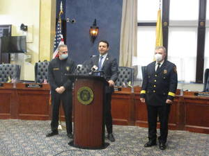 """Mayor Andre Sayegh Paterson Police Jerry Speziale Ibrahim """"Mike"""" Baycora"""