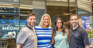 WATCH: Megha Ganne Meet & Greet at Swing Loose Indoor Golf in Holmdel's Bell Works