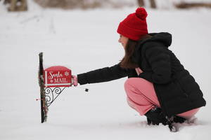 Santa Mailbox on the Randolph Trails Spreads Christmas Cheer and Brightens up a Difficult Year