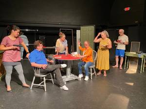 """Cast members rehearse North Star Theater Company's production of """"Fuddy Meers."""""""