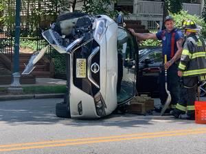 Car Flips in South Orange, Incident Account Varies