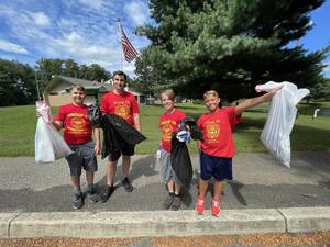 """Boy Scout Troop 13 Helps """"Beautify Bordentown"""" With Litter Clean Up Day"""
