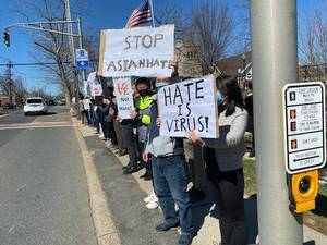 Chatham Asians Turn Out for #StopAsianHate Awareness Event; Chatham Borough Mayor Kobylarz: 'Hate has no home here'