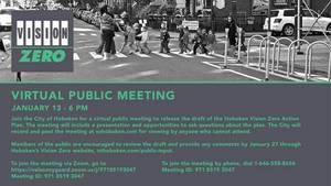 Public Meeting for Hoboken 'Vision Zero' Action Plan — Tonight at  6 p.m.
