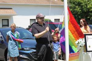 "Hawthorne Hosts its First Official ""Pride Day"", Mayor Goldberg Raises the Rainbow Flag"