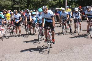 Rutgers Students Embarking From New Brunswick on Charity Bike Ride