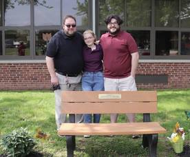 Memorial Bench and Butterfly Garden Dedicated to Patti Waters at Riley School