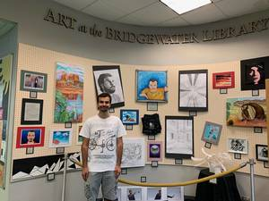 Bridgewater Resident Holding First Art Exhibition at Town Library