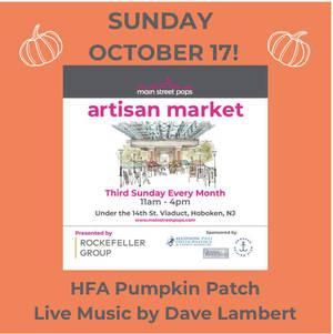Hoboken Family Alliance Pumpkin Patch at Main Street Pops Artisan Market - Sunday, October 17
