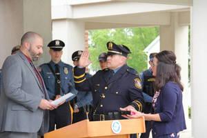 Newton Police Department Swears in Steven Van Nieuwland as New Chief
