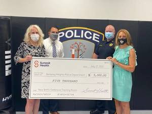 Berkeley Heights Police Department Receives Support from Summit Health for Tactical Training and Fitness Programs