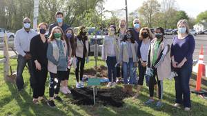 Girl Scout Troop 65042 Dedicates Tree to Honor Those Who Lost Their Lives Due to COVID-19