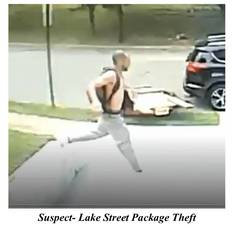 Package Thief Sneaks Away with Delivery from Lake Street Residence