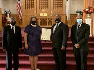 The Mount Olive Baptist Church in Plainfield Receives Resolution Commemorating 150th Anniversary