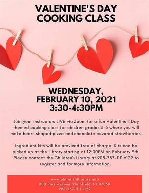 It's a Valentine's Day-Themed Cooking Class for Plainfield Kids