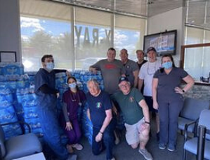 IMA Collects, Matches and Delivers  Bottled Water Donations to Local First Responders.
